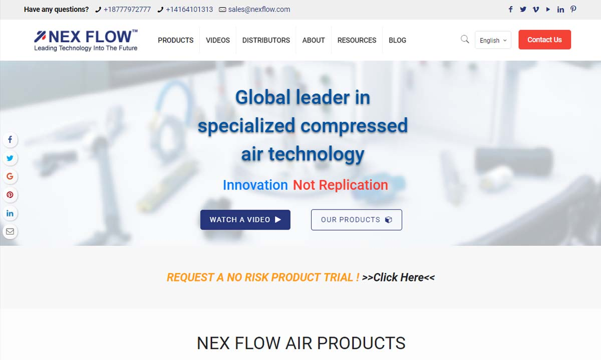 Nex Flow™ Air Products Corp.