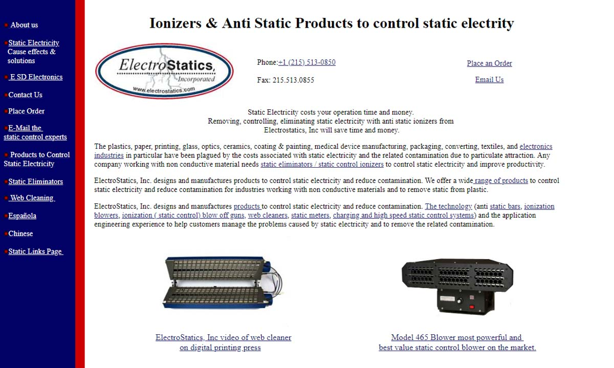 ElectroStatics, Inc.